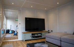 partitioned wall in garden room