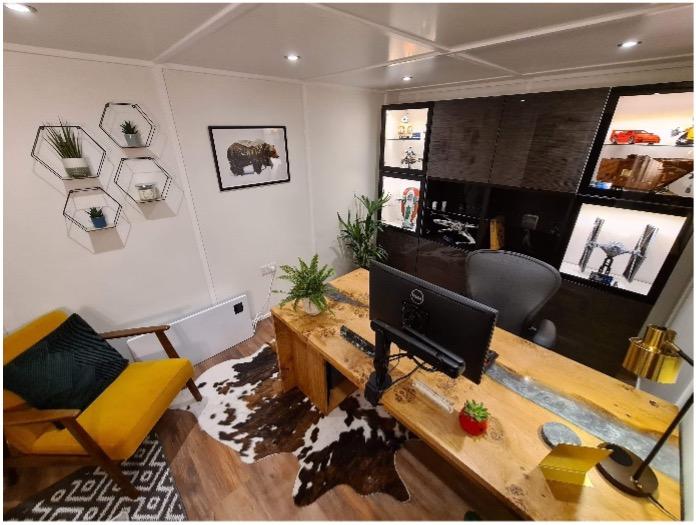 Modern Garden Office Interior