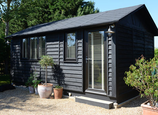 Smart garden offices the duo suffolk barn for Garden office and storage