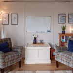 Quality Garden Offices – Jill's cosy and inviting consultation room