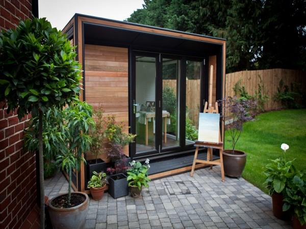 Garden art studios stylish garden offices smart garden for Garden house office