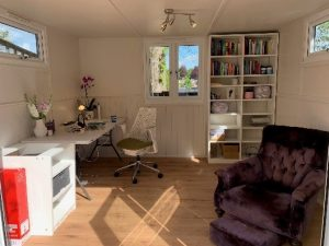 Soft, comfy area within office to take a break from work