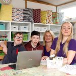 Quality Garden Offices – Pupils and staff at Fairview Farm