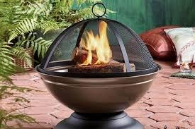 An active fire pit
