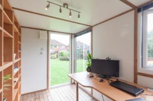 Garden office interior - garden studios